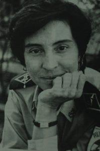 Aminta Granera en 1996, cuando estaba por asumir la jefatura de Tránsito Nacional.