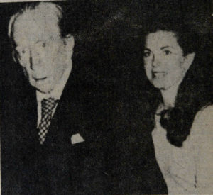 Paul Getty y Rosibel Burch Martínez