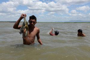 Pescadores del lago Xolotlan , de Playas de San Benito a San Francisco Libre,Wilfredo Perez Cruz y su comunidad de Pescadores.Foto Uriel Molina/LAPRENSA