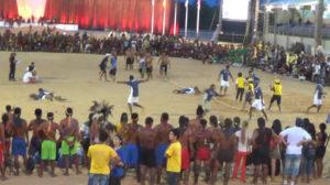 Los indígenas nicaragüenses celebran la victoria en tira de soga