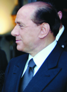 Silvio Berlusconi. AFP PHOTO / Vincenzo PINTO