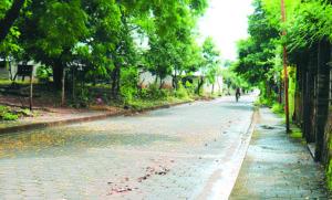 Una calle de Nandaime, que según sus pobladores conducía originalmente al barrio El Burillo