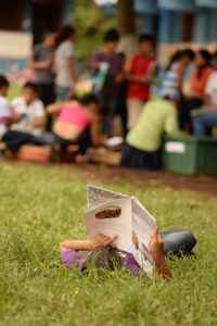 Managua 10 de Oct del 2014. BiblioMovil,en Jinotepe Carazo visitas por Colegio Ruben Dario /Campos Azules/ y Comunidad de Roman Estrada LA PRENSA /Uriel Molina
