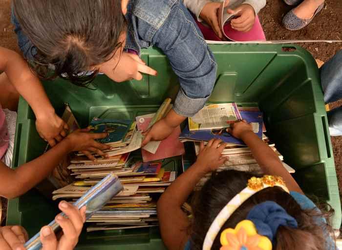 Managua 10 de Oct del 2014. BiblioMóvil,en Jinotepe Carazo visitas por Colegio Ruben Dario /Campos Azules/ y Comunidad de Roman Estrada LA PRENSA /Uriel Molina
