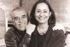 Gabo y su esposa Mercedes Barcha