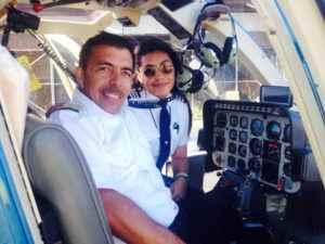 Andrea Castillo Moreno con su padre, Juan Castillo Flores