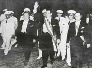 Asumió la Presidencia tras el asesinato de su padre en 1956. En 1957 inició su propio periodo que concluyó en 1963.