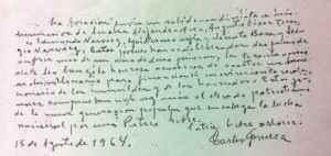 Esta es la nota que Carlos Fonseca Amador supuestamente entregó a Sergio