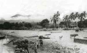 Donde hoy está construido el malecón y centro turístico de Granada, sus pobladores solían ir por agua, que luego acarreaban en carretas.