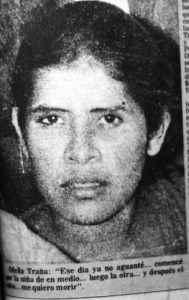 Ofelia Traña, la expareja de Selva, quien asesinó a sus tres hijos.