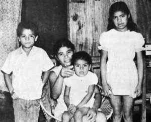 Carmen Briceño, esposa e hijos de Pedro Selva