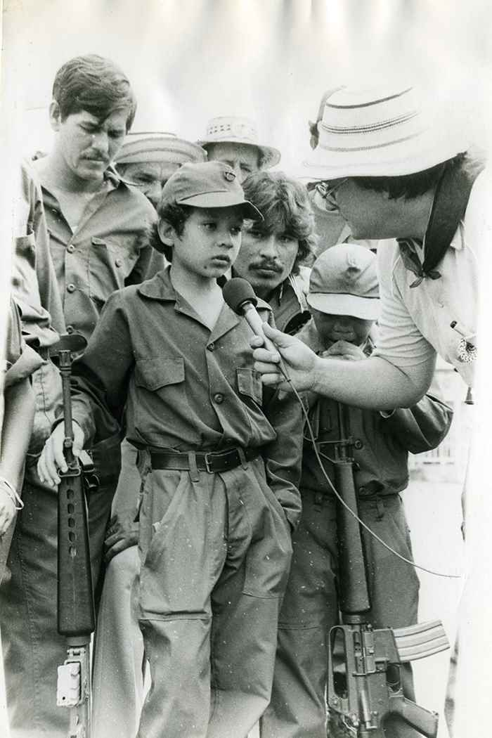 Una escuadra de niños recibió al general Omar Torrijos