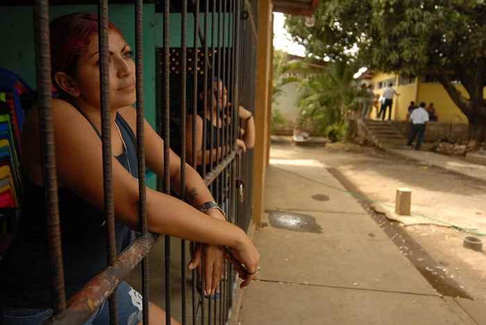 Una de las celdas de la cárcel La Esperanza.