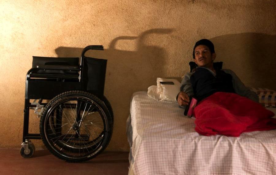 Dimas Figueroa, migrante nicaragüense mutilado por La Bestia en diciembre de 2016.