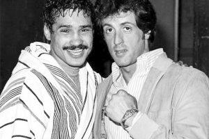 Con Sylvester Stallone.