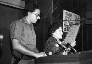 En 1980 dirigentes del Frente Sandinista reconocieron su aporte al triunfo revolucionario en un acto público, la Universidad Nacional Autónoma de Nicaragua (UNAN) le otorgó el doctorado Honoris Causa por su destacada labor médica.