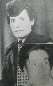 Concepción Palacios Herrera con el uniforme del Cuerpo Médico de las Naciones Unidas, que usó durante su labor humanitaria en Europa, donde atendió a sobrevivientes de campos de concentración nazi. Inserta, una foto de ella poco antes de su muerte.