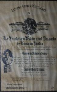 En 1928 Concepción Palacios recibió su título de médico de la UNAM.