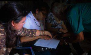 trabajadora sexual y facilitadora judicial. Foto de la película Girasoles de Nicaragua.