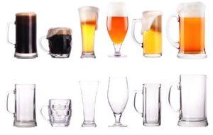 Cerveza, vasos