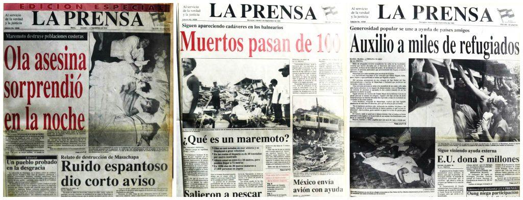 Maremoto, Nicaragua, Tsunami, Pacífico