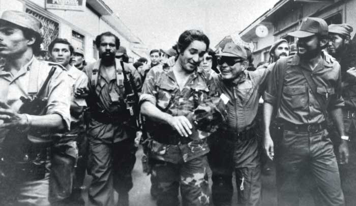 La mayoría de los guerrilleros eran unos jóvenes desaliñados, triunfo de la revolución 1979