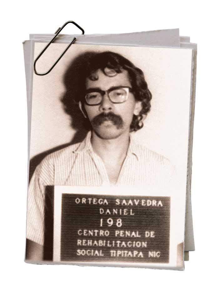 Daniel Ortega. Foto del expediente cuando ingresó a la cárcel