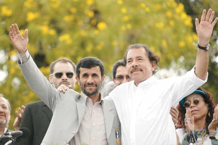 Daniel Ortega es el único aliado centroamericano de Ahmadinejad.