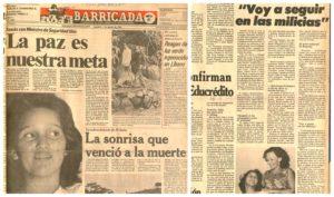 """Brenda Rocha fue bautizada popularmente como """"la sonrisa de Nicaragua""""."""