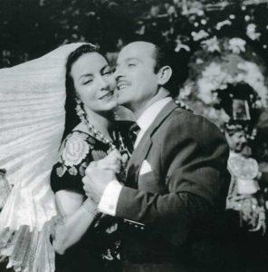 Con Pedro Infante, durante el rodaje de Tizoc (1956). A María Félix no le gustó esta película ni el papel que interpretó su coprotagonista.