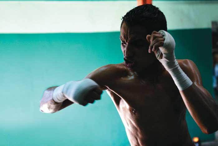 Melvin López en el boxeo aficionado