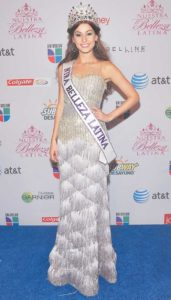 Nastassja Bolívar en su participación en Nuestra Belleza Latina.