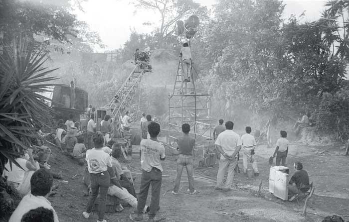 Película Sandino, filmada en La Habana, Cuba, en 1991