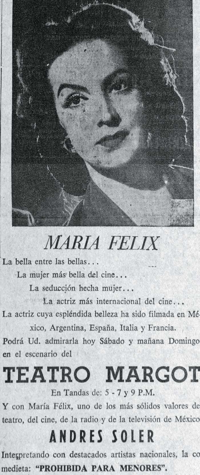 Anuncio en el diario La Prensa, septiembre 1955