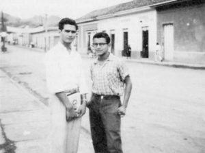 Francisco Buitrago y Marcos Altamirano, amigos de Carlos Fonseca, con quienes llegaría a fundar la Juventud Patriótica Nicaragüense.