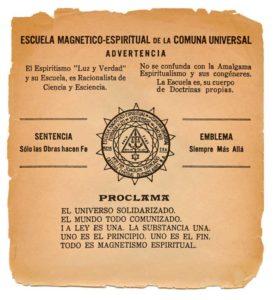 """En un documento oficial como el que aquí reproducimos, cuando Sandino fue asesinado en 1934, la Escuela Magnético Espiritual de la Comuna Universal aseguró que perdía """"en el Hno. César Augusto Sandino, a uno de sus más fuertes paladines"""". Esta comunicación fue publicada en la revista oficial """"La Balanza"""", en la que señalaban que el general tenía previsto un viaje a Argentina para conocer a su """"Maestro"""" Joaquín Trincado. Foto cortesía: IHNCA - UCA"""