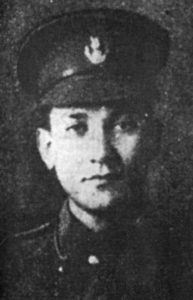 Salomón de la Selva asegura en el prólogo de su libro El soldado desconocido que fue voluntario y luchó bajo la bandera de Jorge V.