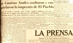Camisas azules, fascistas, Mussolini, Nicaragua