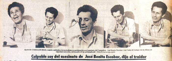 El testimonio de Marvin Corrales Irías, en el que confiesa su presunta traición al FSLN