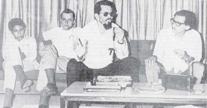 Carlos Fonseca Amador y Humberto Ortega durante una entrevista