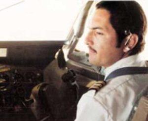 1977. Irving Silva trabajando para la aerolínea La Nica.