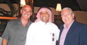Irving Silva junto al presidente de operaciones de Midroc Avation, capitán Fahad Bakalka. El dueños de dicha empresa es Mohammed Al Amoudi, el hombre más rico de Etiopía