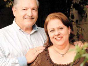 Irving Silva con su esposa Clelia Durán