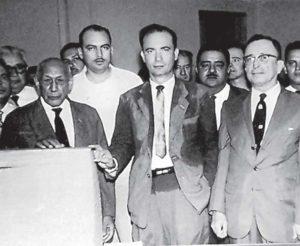 Fernando Agüero Rocha (al centro) sucedió en el Partido Conservador a Emiliano Chamorro, aunque los conservadores continuaron fieles al caudillo.