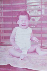 Shantall Lacayo con menos de un año.