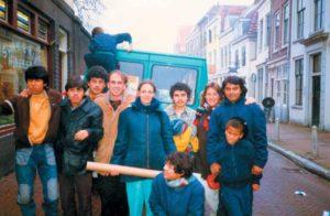 Todo el grupo Nixtayolero, en 1986. Holanda.