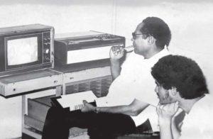 Después de trabajar arduamente en radio y llevar la publicidad de la Sterling  Products, el profesor Sandoval incursionó en la televisión. La Liga del Saber, en uno de sus programas que aún se mantiene al aire.