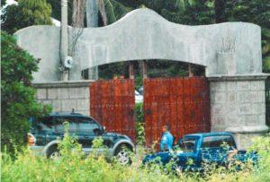 Mansión en el kilómetro 16 y medio Carretera a Masaya, cuyo terreno en un inicio fue una donación a la Iglesia católica.
