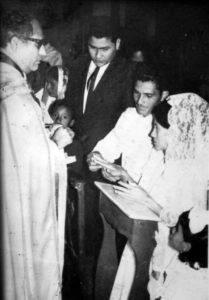 Hace 50 años, casándose con Tomás Sacasa su querido Tomasito.