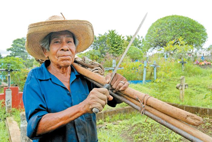 Segundo López, miembro del consejo de ancianos de Monimbó
